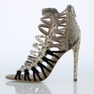Steve Madden Sleik Caged Peep Toe Stiletto